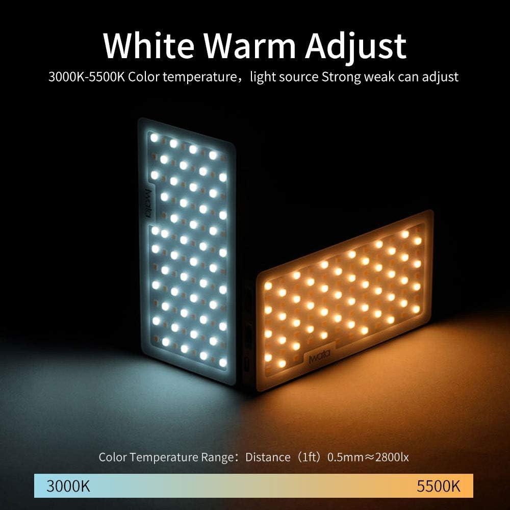 Iwata Tech Photography Light GS-01 Color Temperature 3000-5500k Portable LED Fill Light for Mobile Phone Self-Timer Soft Light Studio Portrait Still Life Fill Light