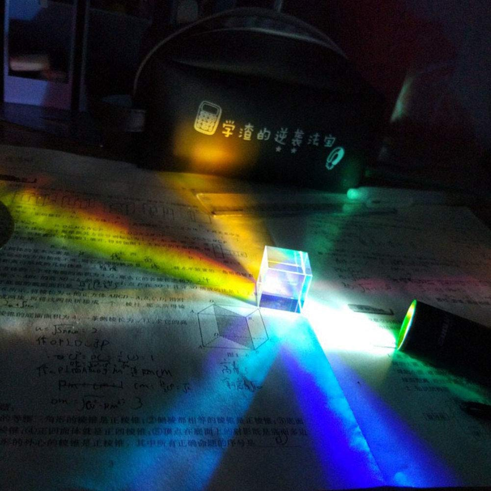 Trasparente 20 * 20 * 17mm Heylas Prisma Physik Lehre Prisma in Vetro Ottico di precisione