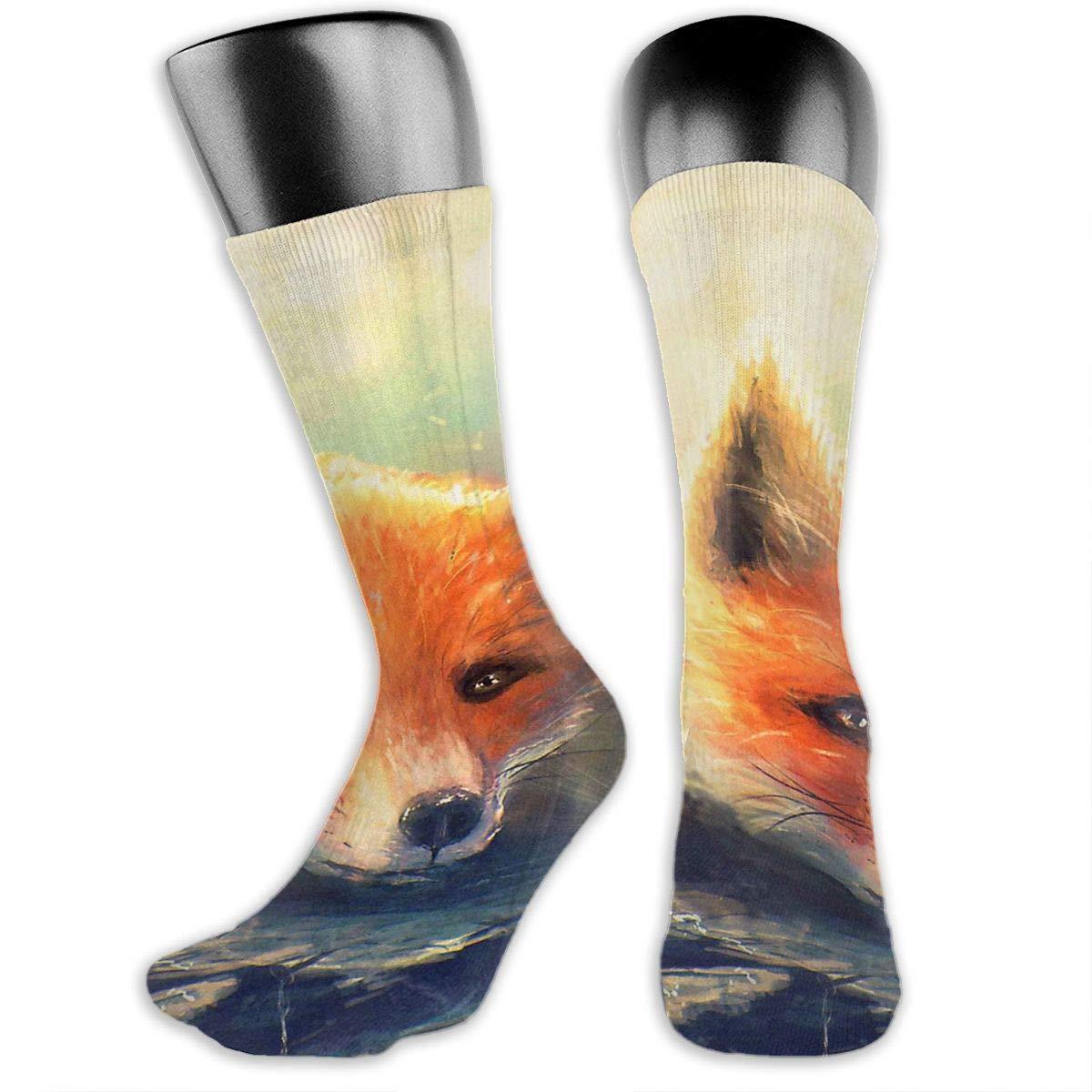 OLGCZM Cute Fox Men Womens Thin High Ankle Casual Socks Fit Outdoor Hiking Trail