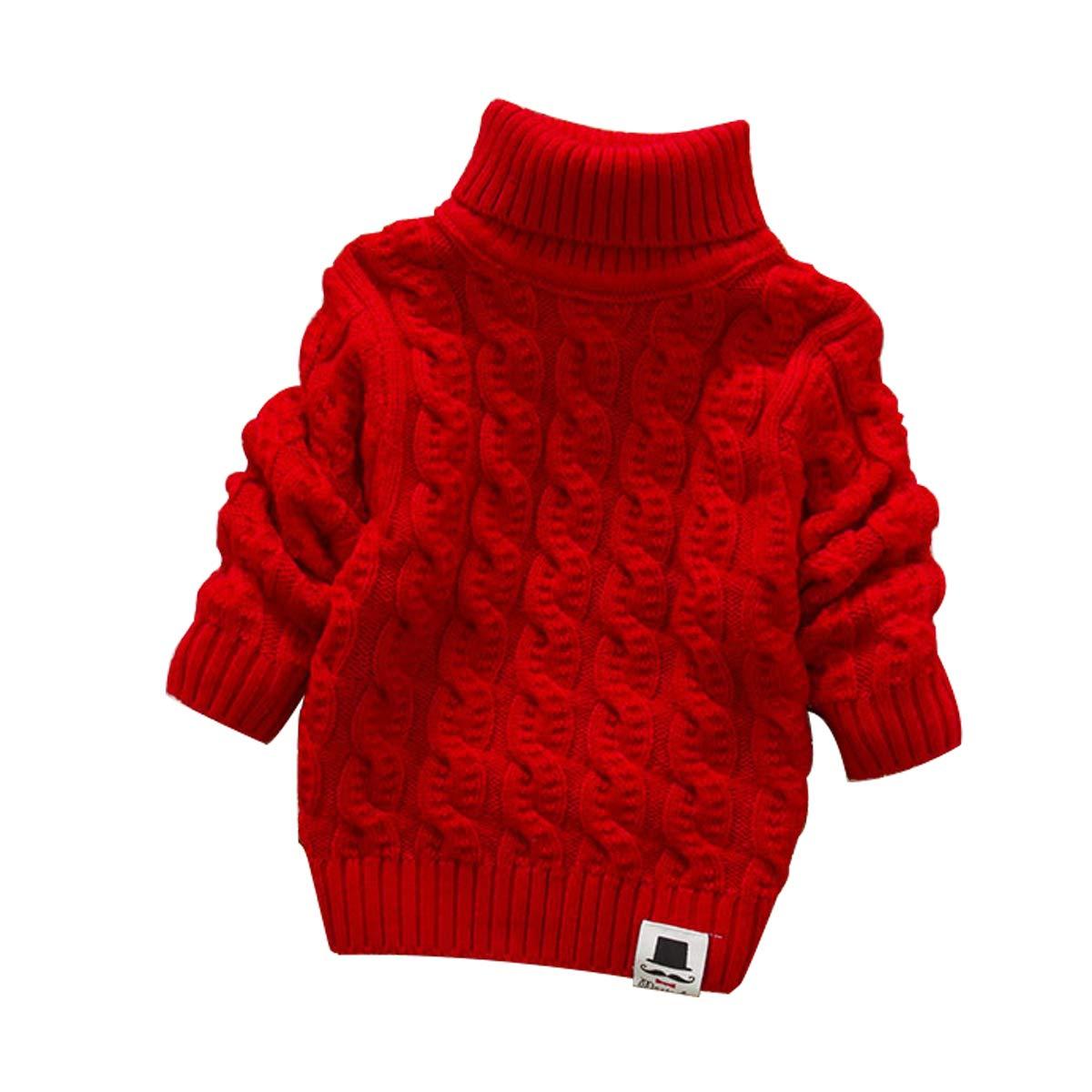CuteOn Baby Boys Girls Solid Color Basic Turtleneck Cotton Bodysuit Jumpsuit Light Yellow 12 Months