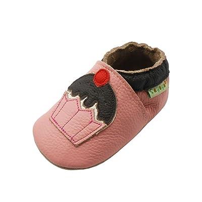 Sayoyo gâteau chaussures de bébé en cuir souple chaussures semelle douce