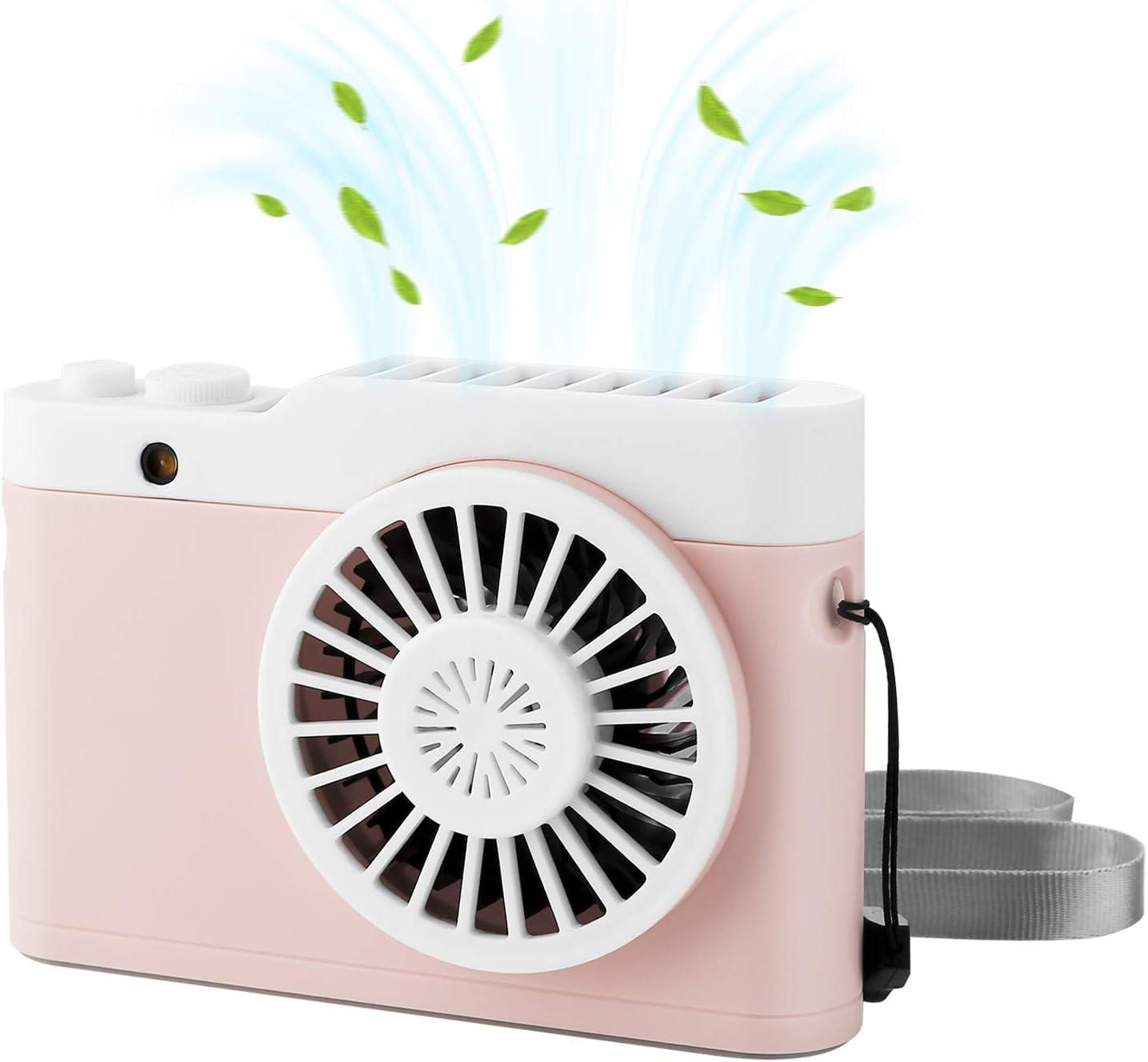 SH Cactus USB Fan Summer Cool Summer Mini Fan Boutique Battery Night Light Fan Desktop Fan Personal USB Desktop Fan with Hook Three Speed Wind Speed Adjustable