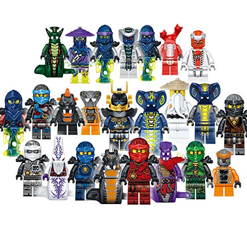 2017 24 PCS/Set Ninjago Full Set with Weapons Mini Figures Building Blocks (Nindroid Costume)