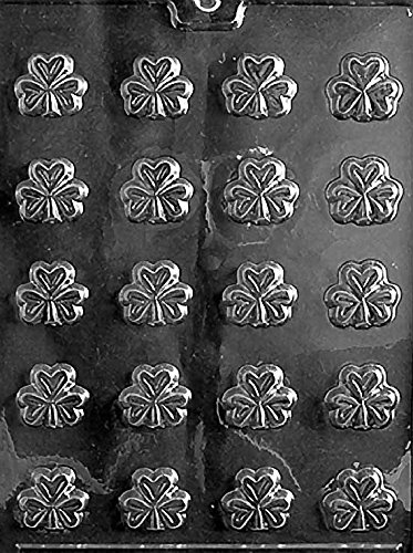 Grandmama's Goodies P001 Bite Size Shamrocks Chocolate Candy Soap Mold with Exclusive Molding Instructions Clover Candy