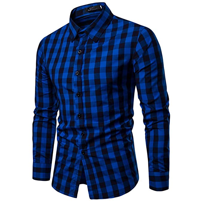 Camisas Hombre Manga Larga,Hombres Otoño Invierno Manga Larga Casual Camisas Moda Trendy Blusa Tops Camiseta: Amazon.es: Ropa y accesorios