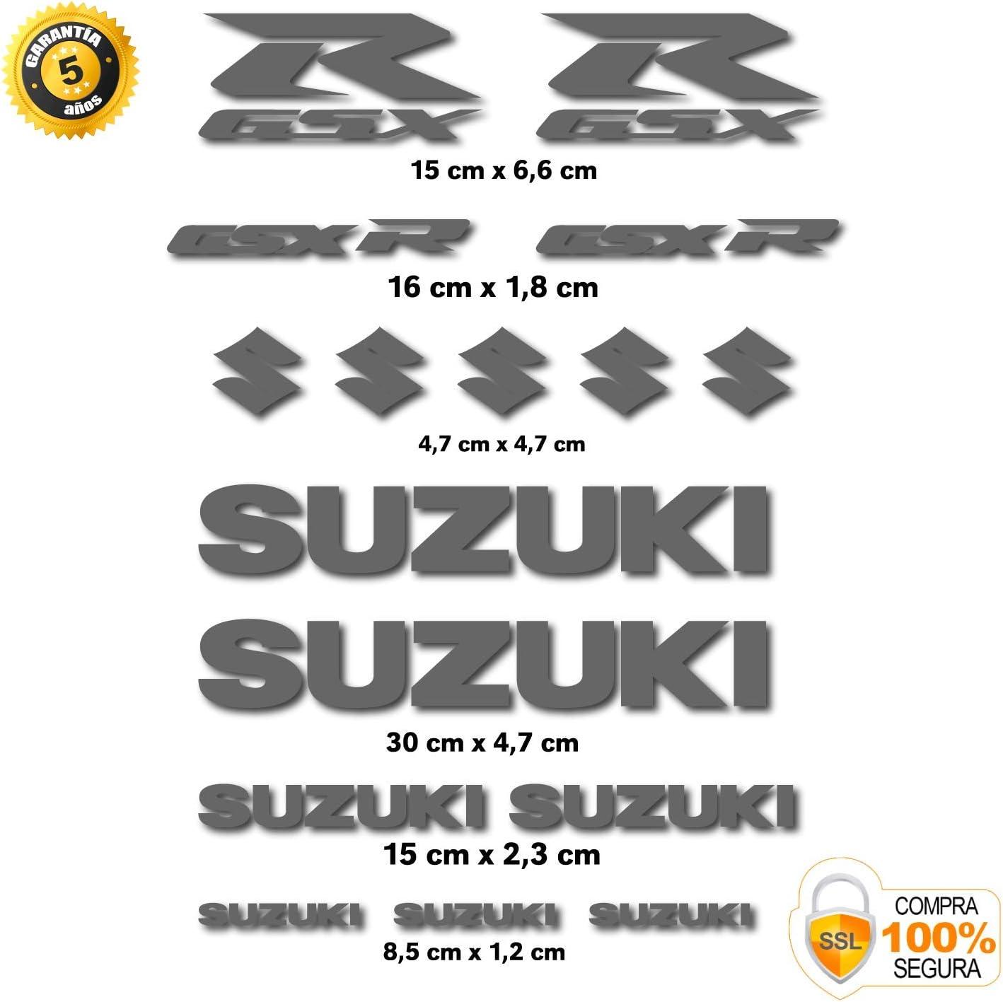 Pegatina Adhesivo Compatible con Suzuki GSX R Vinilo Troquelado 16 Unidades 14 Colores Disponibles Amarillo
