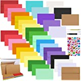 72 Sets 18 Colors A9 Invitations Envelopes 5 3/4 x 8 3/4 Self Seal with Blank Flat Note Cards Bulk DIY Card Making…