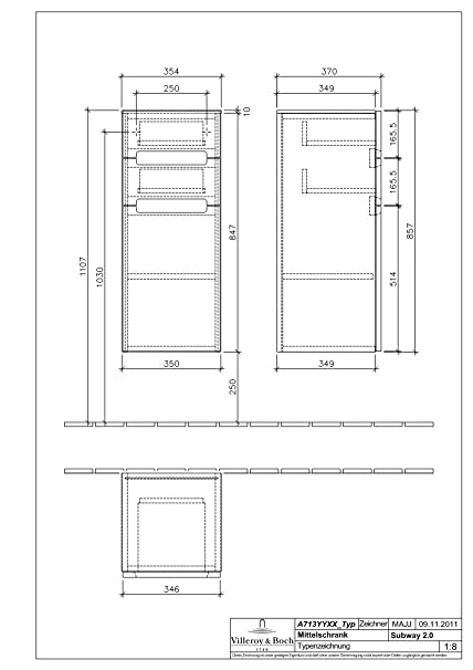 Villeroy Boch Seitenschrank Subway 2 0 A7131s 354x857x370 Glossy