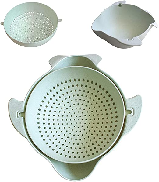 Cooking Spoon Strainer Colander Self Draining Silicone Kitchen Tool Professional