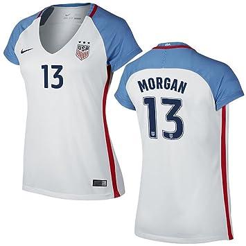 Nike Alex Morgan Nosotros fútbol Estadio de réplica de la Camiseta de la Mujer, Blanco: Amazon.es: Deportes y aire libre