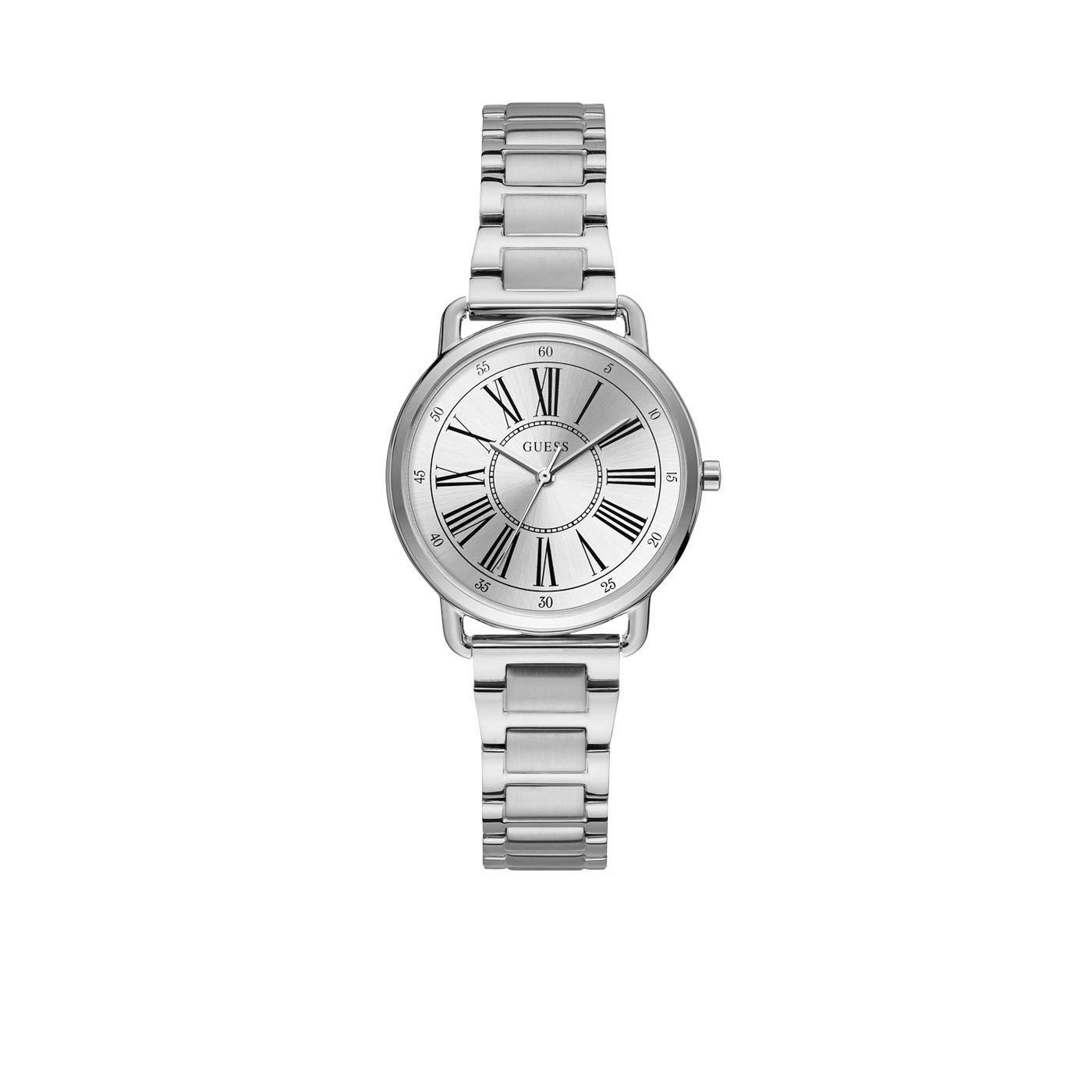Uhr Mit Damen Edelstahl W1148l1Amazon Guess Quarz Armband Analog zVSpqUM