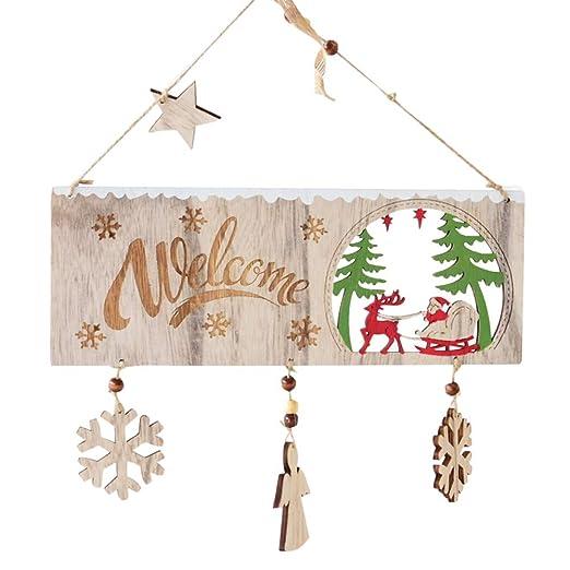 Mmlsure Dekorativer Anhänger Aus Holz Weihnachten