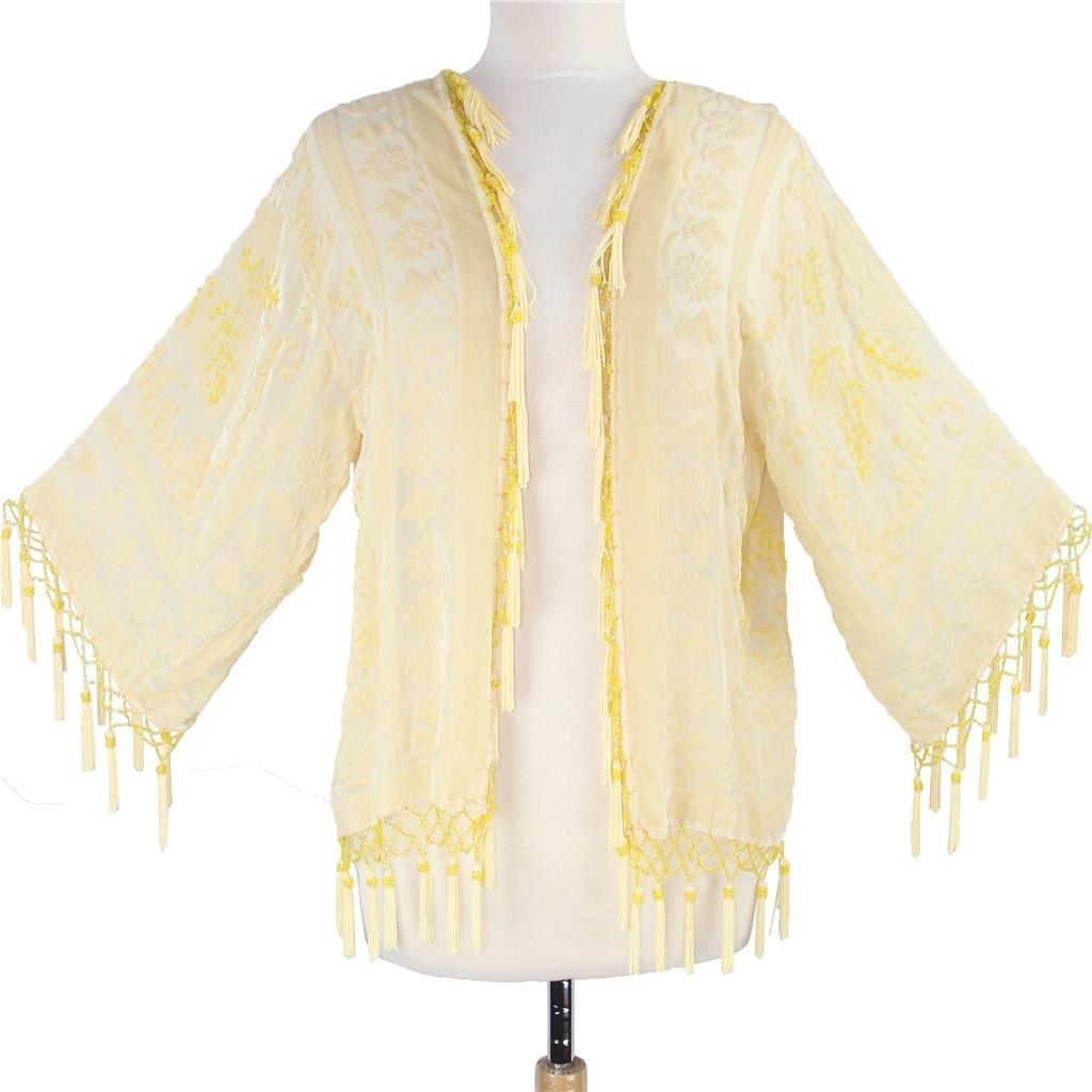 Aris A. Spring Blossoms Velvet-Burnout Short Jacket