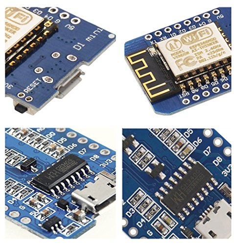 IZOKEE D1 Mini NodeMcu Lua 4M Bytes WLAN WIFI Internet Development Board Base on ESP8266 ESP-12F for Arduino, 100% Compatible with WeMos D1 Mini (Pack of 3) by IZOKEE (Image #3)