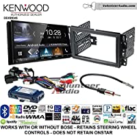 Volunteer Audio Kenwood DDX9904S Double Din Radio Install Kit with Apple CarPlay Android Auto Bluetooth Fits 2007-2013 Silverado, Avalanche (Retains steering wheel controls)