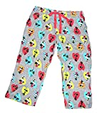 Disney Classic Minnie Mouse Womens Pajama Pants - Minnie in Hearts - Grey