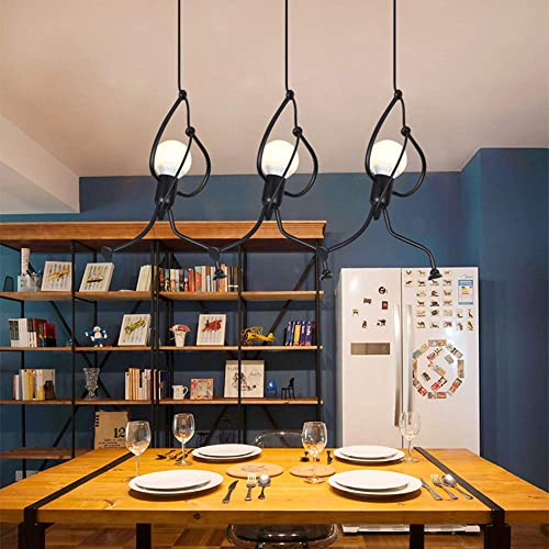 Industrial Metal Pendant Light, Creative Cartoon Ceiling Light Fixture, Indoor Hanging Lamp, Modern Minimalist Lamps for Bedrooms Loft Study Restaurant Entryway Foyer, E27, Bulb not Included