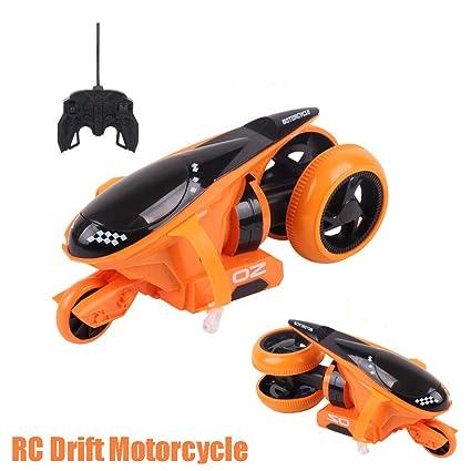 ZMH 2CH RC Motocicleta Rueda Trasera Tracción 360-Degree Drift Motocicleta Stunt Car Toy con