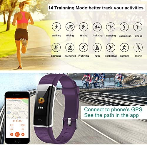Willful Fitness Tracker IP68 Swimming Waterproof, Heart Rate Monitor Fitness Watch Sport Digital Watch with Color Screen Step Counter Sleep Tracker Call SMS SNS Notice, Smart Watch for Men Women Kids 4