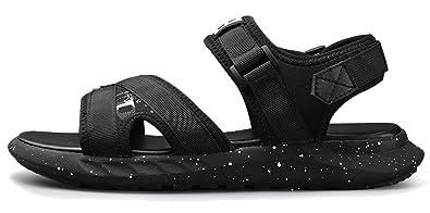 6cbfdfbe5691 Respeedime Summer Men s Sandals Outdoor Sport Slippers Fashion Students  Drag Wear Shoes Black 6M