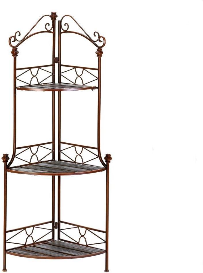 VERDUGO GIFT Rustic Corner Baker's Rack