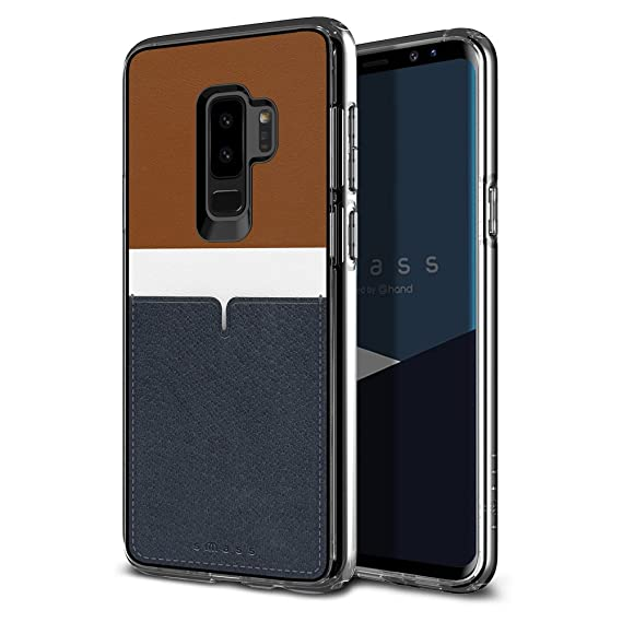 b3d53691c Samsung Galaxy S9 Plus Case with Card Holder, SMASS Unique Design Luxury  Simple Case for