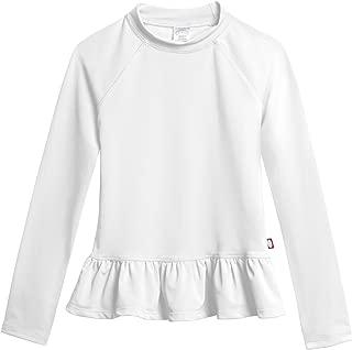 product image for City Threads Big Girls' Rash Guard Peplum Long Sleeve Sun Shirt with SPF50+