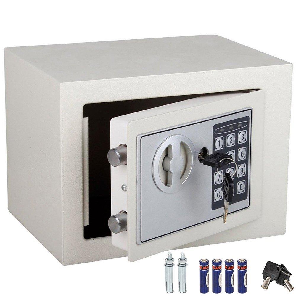 Cassaforte a muro con combinazione numerica digitale elettronica e doppia chiave di sicurezza (Beige) C14 Vet italy