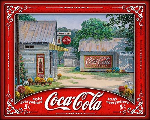 Springbok Puzzle Springtime Serenity Coca Cola Jigsaw Puzzle - 500 Piece Jigsaw Puzzle - Large 19 inches by 23.5 inches - Made in USA - Unique Cut Interlocking Pieces (Coca Cola Puzzle 500 Piece)