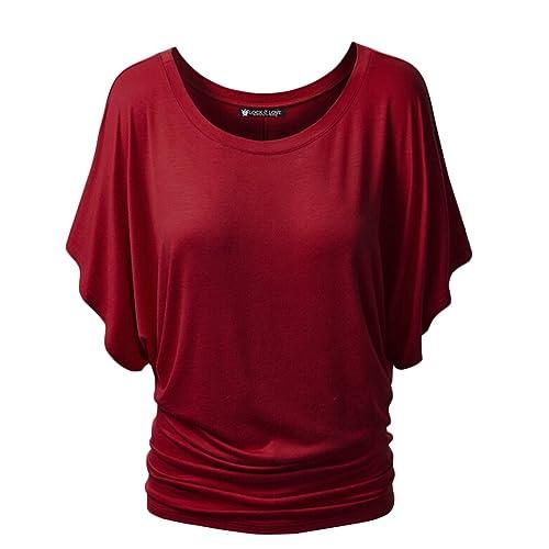 Summer Plus tamaño T-Shirt mujer Casual con mangas de murciélago Sexy T Shirts blusas para mujer Top...