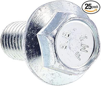 25-Pack Prime-Line 9089734 Flange Bolts Class 8.8 Metric M12-1.75 X 30MM Zinc Plated Steel