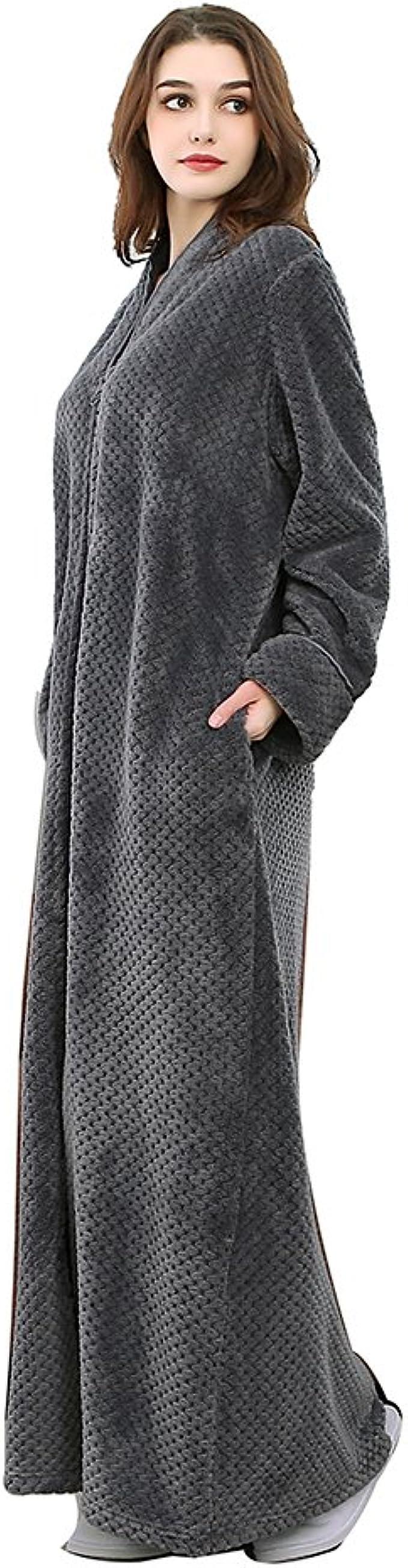 Womens Dressing Gown Luxury Robe Fleece Mothers Day Housecoat 14 16 18 20 22 24