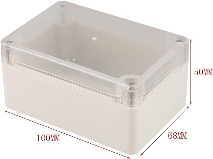 REFURBISHHOUSE Boitier de fermeture a vis et en caoutchouc etanche Boite de jonction etanche 100x68x50mm