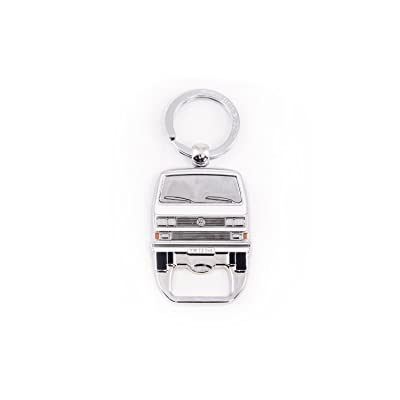 BRISA VW Collection - Volkswagen Bus T3 Camper Van Vanagon Key Ring Chain/Bottle Opener, Gift Idea/Fan Souvenir/Retro Vintage Product (White): Automotive