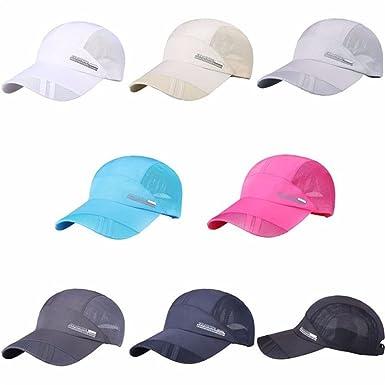 Longreen Men women sport running caps Adjustable outdoor visor cap summer  sun hat breathable mesh hat 7ea0858423e1