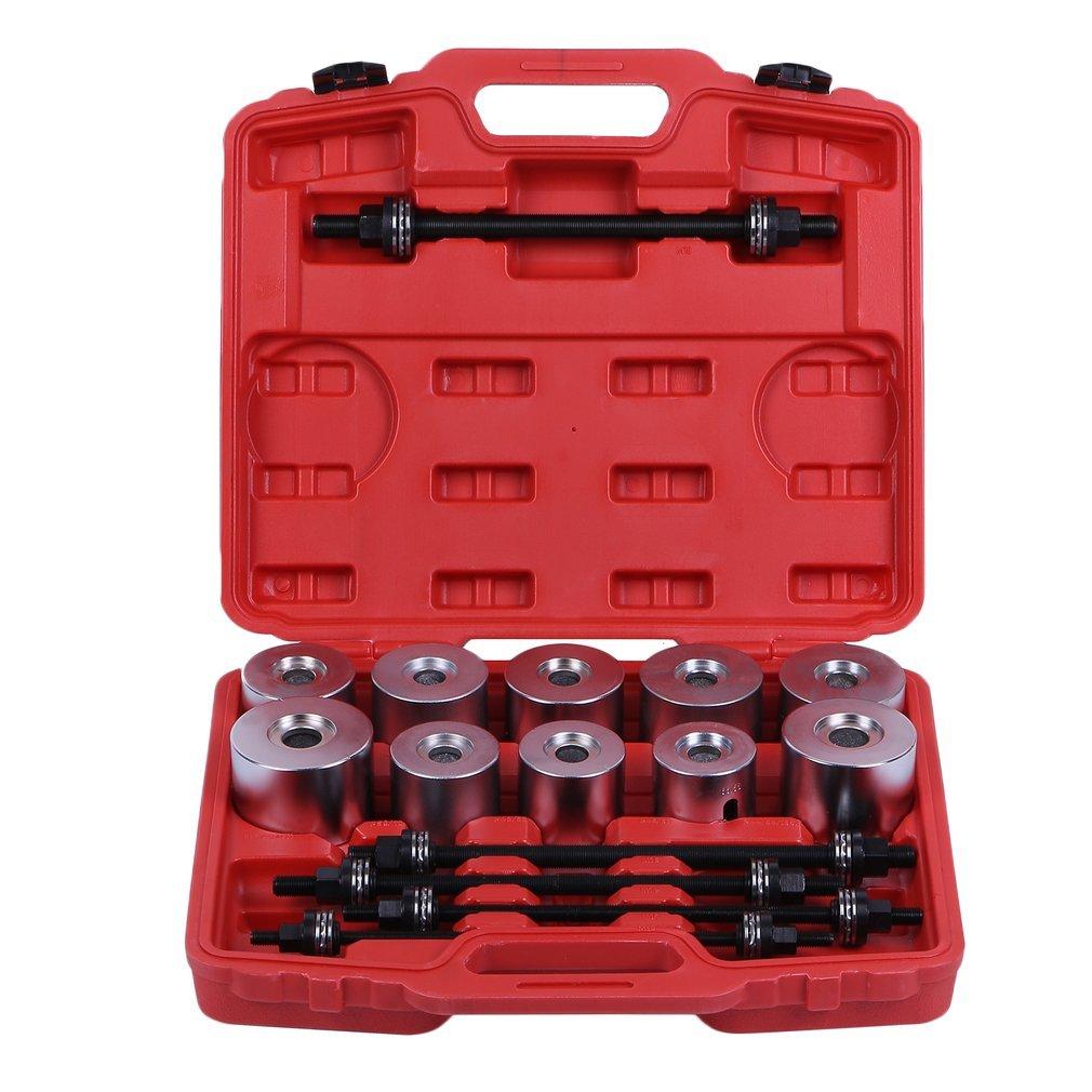 611890362248 Hehilark 27pc Bearing Press Tool Press & Pull Sleeve Kit Bushes Bearing Universal Tool Kit for different vehicles