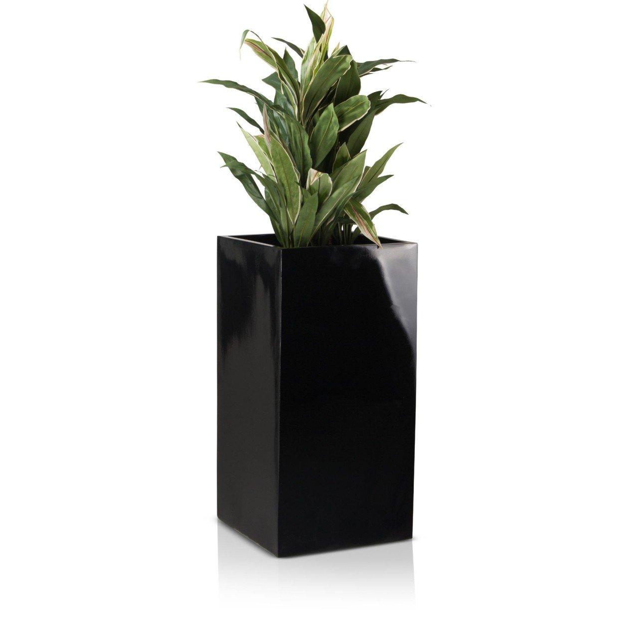 pflanzk bel blumenk bel torre 80f fiberglas 40x40x80 cm schwarz hochglanz g nstig online kaufen. Black Bedroom Furniture Sets. Home Design Ideas