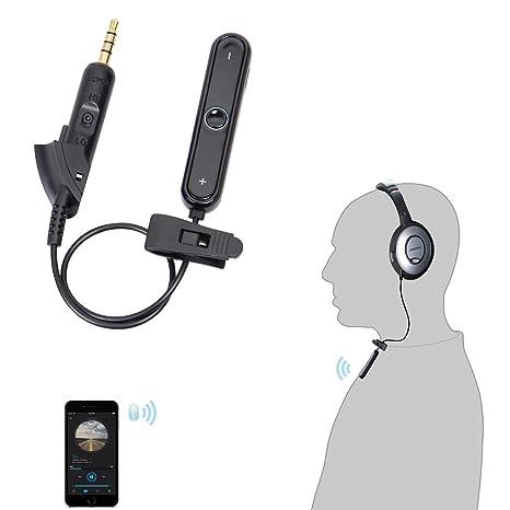 LANMU adaptador Bluetooth Receptor Bluetooth para auriculares BOSE QC15/QC2 oe2 AE2 receptor inalámbrico de