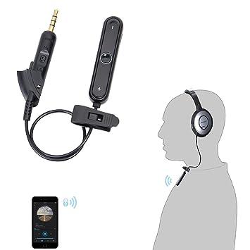 LANMU adaptador Bluetooth Receptor Bluetooth para auriculares BOSE QC15/QC2 oe2 AE2 receptor inalámbrico de cable conversor para QuietComfort cancelación de ...