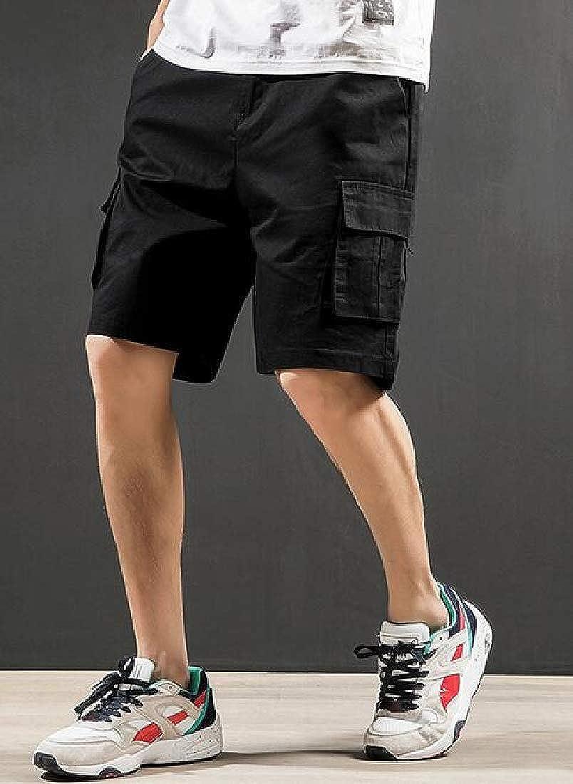 Jofemuho Women Casual Athletic Mutli-Pockets Outdoor Plus Size Cargo Shorts