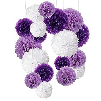 Amazon.com: RBH 18 piezas de papel de seda bola de flor de ...