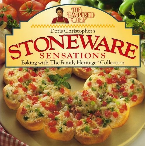 Pampered Chef Family Heritage Stoneweare Sensations Recipe Book & Seaons Best 2001 & 2004 Recipe Collection