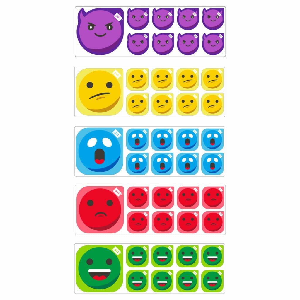 emoticon smiley set 5x per Scrum Board PATboard.com