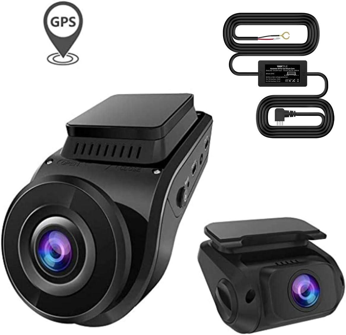 Bundle – 2 Items: Vantrue S1 Dual 1080P Front and Rear Dash Cam + Vantrue S1 10ft Mini USB Hdwirear