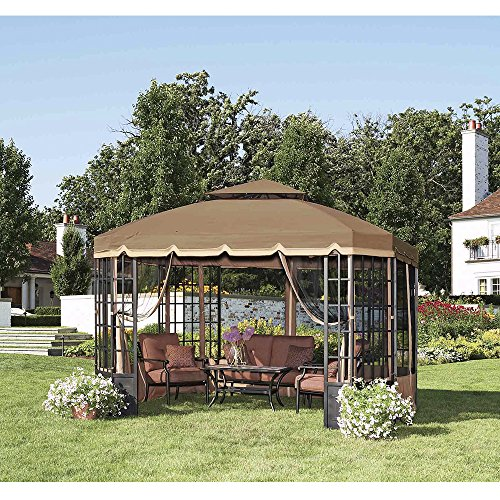 Sunjoy Replacement Canopy Set for Bay Window Gazebo -  110109232