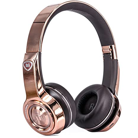 Monster Elements Auricular con Banda de Diadema con inalámbrico Bluetooth Rosa Gold