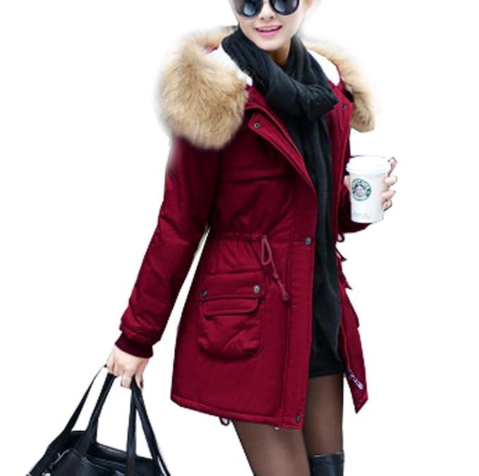 Arkind Abrigo mujer Caliente con la Sudadera con capucha Piel Falso Chaqueta Otoño Invierno: Amazon.es: Ropa y accesorios