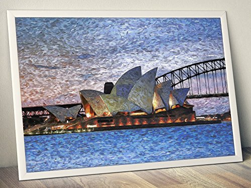 (Sydney Opera House In Australia Limited Poster Artwork - Professional Wall Art Merchandise (More Sizes Available) (8x10))