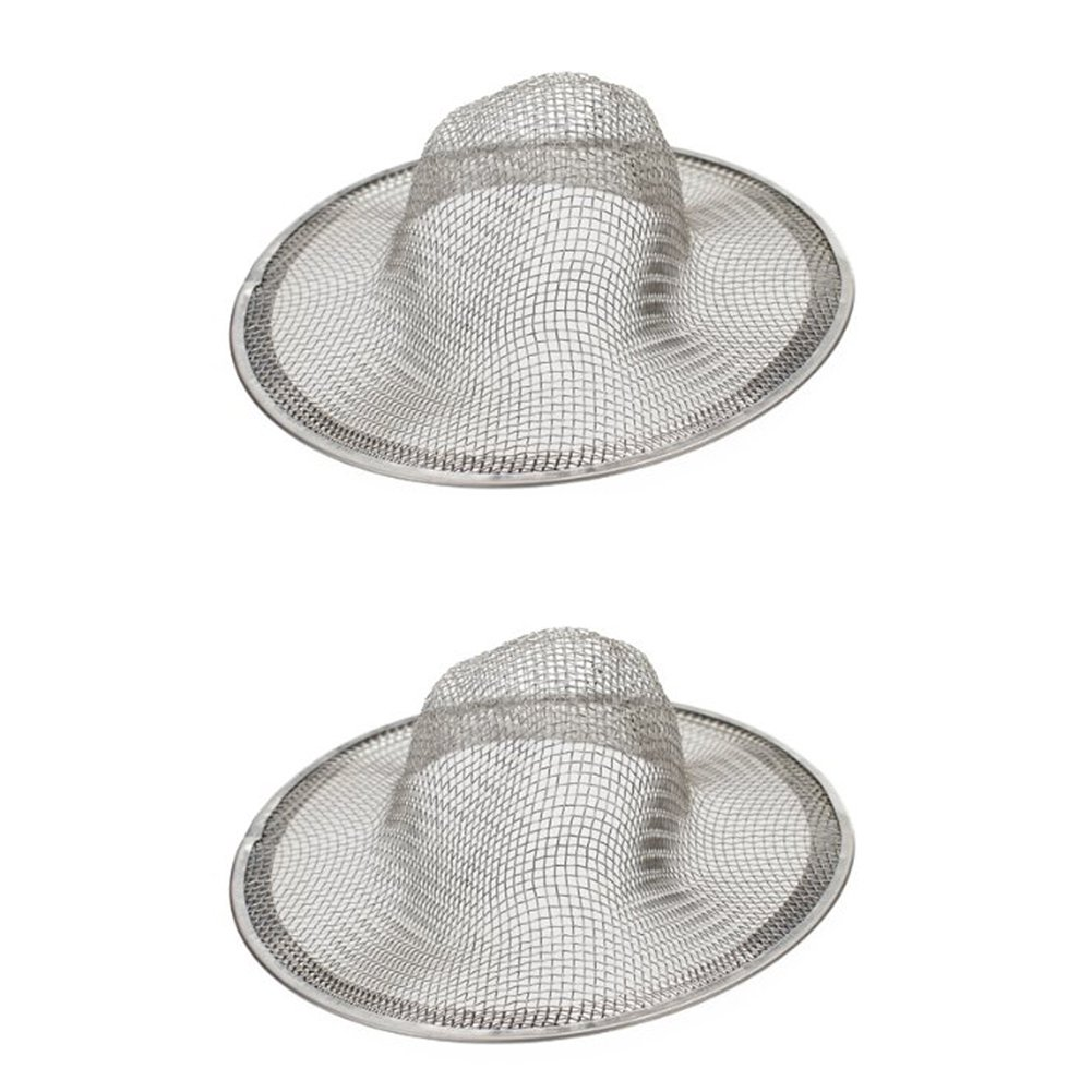 Dylandy 2x Sink Filter Drain Strainer Stainless Steel Mesh Kitchen Sink Strainer Bathroom Shower Hair Catcher Drain Cover Trap Stopper 7CM