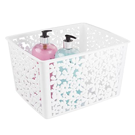 mDesign organizer bagno in plastica - piccolo cosmetic box - ideale ...